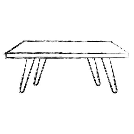 living room center table vector illustration design