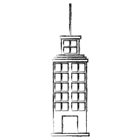 big building skyscraper facade vector illustration design