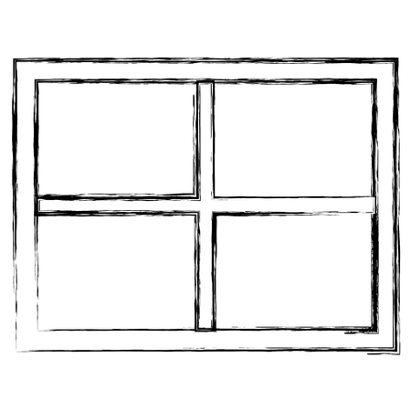 window house isolated icon vector illustration design