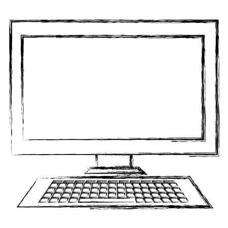 desktop computer display icon vector illustration design
