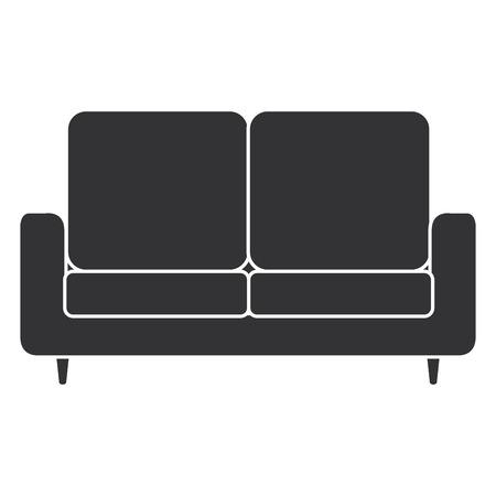 comfortable sofa isolated icon vector illustration design  イラスト・ベクター素材