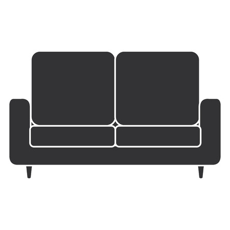 comfortable sofa isolated icon vector illustration design Illusztráció