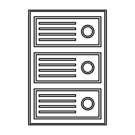 cpu tower icon image vector llustration design  Ilustrace