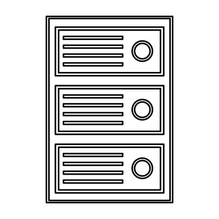 cpu tower icon image vector llustration design  Illustration