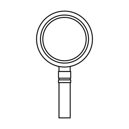 magnifying glass icon image vector llustration design  black line