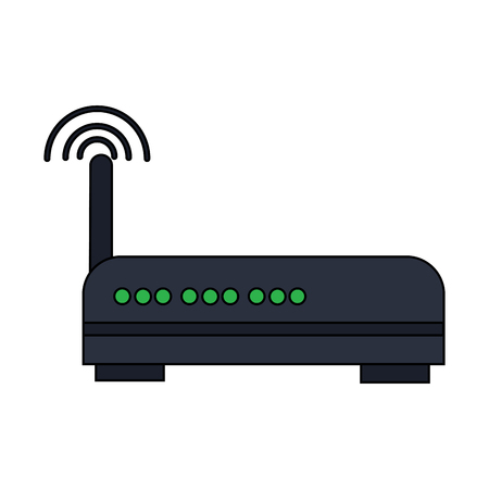 wifi router icon image vector llustration design