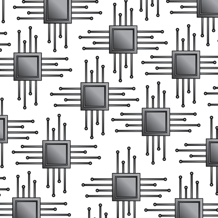 CPU chip pattern image vector llustration design Ilustrace