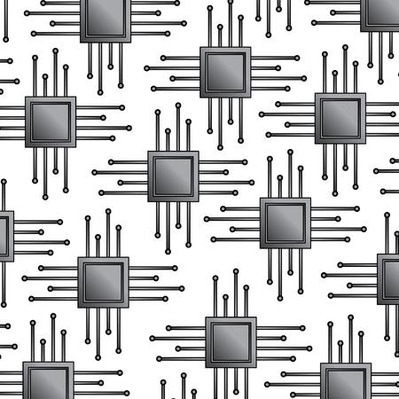 CPU chip pattern image vector llustration design Illustration