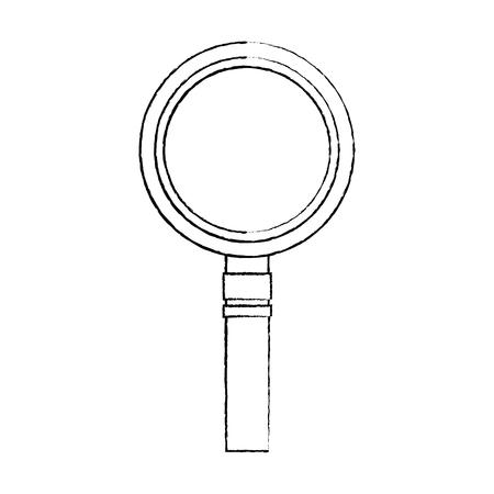 magnifying glass icon image vector llustration design  black sketch line Illustration