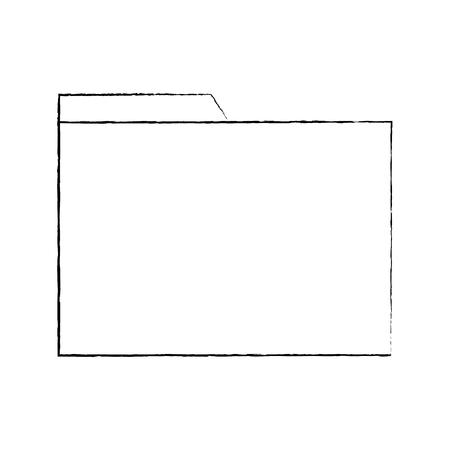 file envelope icon image vector llustration design  black sketch line Illusztráció