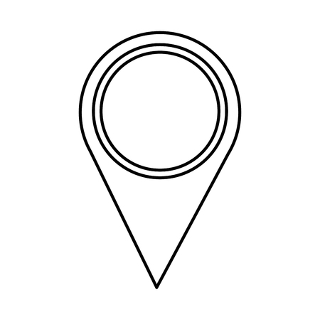 GPS Pin Symbol Bild Vektor Llustration Design schwarze Linie Standard-Bild - 95481677