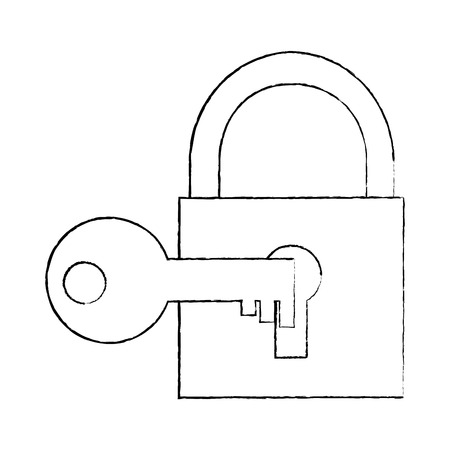 Safety lock with key icon Stock fotó - 95481192