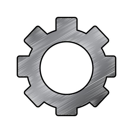 single gear icon image vector llustration design