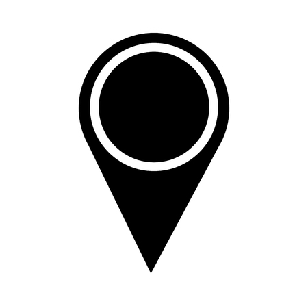 map pointer location navigation icon vector illustration pictogram design