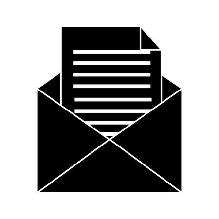 email message envelope document communication icon vector illustration