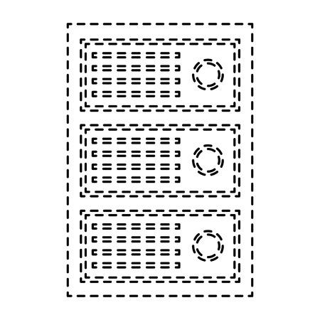data center diagnostic server computer information vector illustration pictogram design Illustration