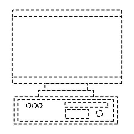 computer monitor screen device blank vector illustration pictogram design