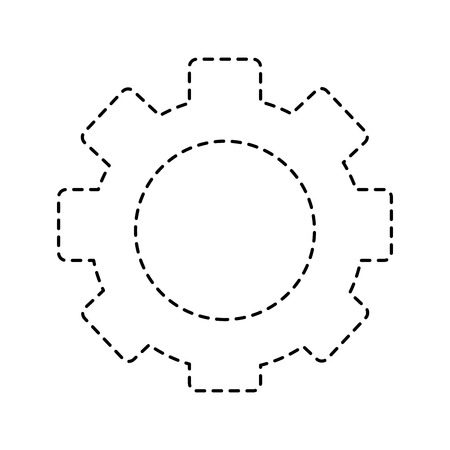 gear setting wheel technology icon vector illustration pictogram design
