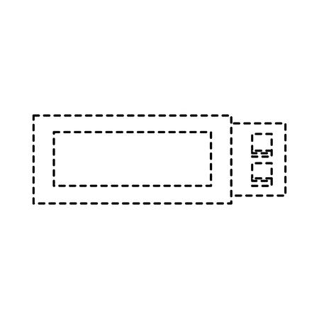 usb flash memory backup technology icon vector illustration pictogram design