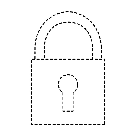 security padlock technology protection system icon vector illustration pictogram design