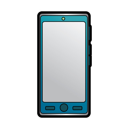 smartphone with blank screen icon image vector llustration design