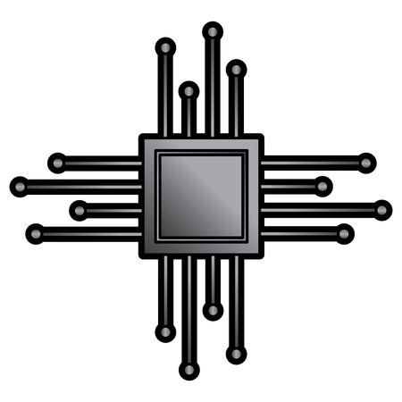 cpu chip icon image vector llustration design  Ilustrace