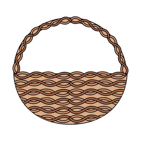 Diseño de ilustración de vector de imagen de icono de cesta de mimbre Foto de archivo - 95481633