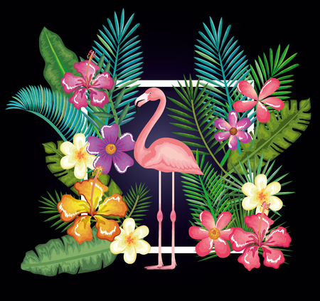 tropical and exotic garden with flemish vector illustration design Stock Vector - 95485648