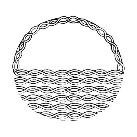 Diseño de ilustración de vector de imagen de icono de cesta de mimbre Foto de archivo - 95484557