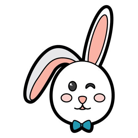 rabbit or bunny wink icon image vector illustration design