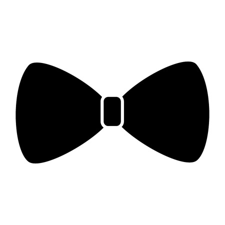 bowtie or bow icon image vector illustration design  black and white