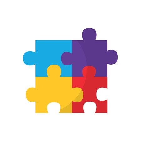 puzzle pieces icon image vector illustration design  Stock Illustratie