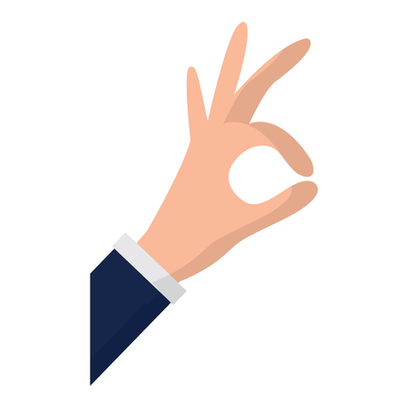 hand grabbing with index and thumb or ok gesture icon image vector illustration design Stock Vector - 95503135