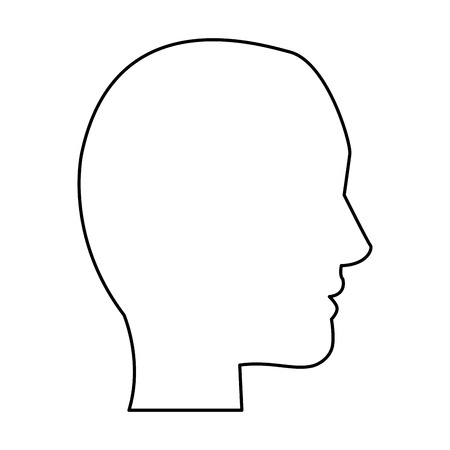 head profile silhouette icon image vector illustration design