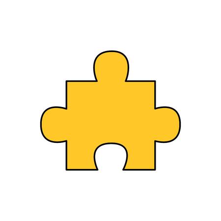 one piece jigsaw puzzle image vector illustration  イラスト・ベクター素材