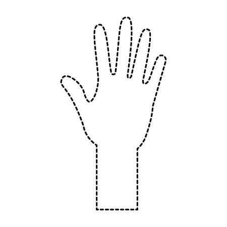 human hand arm open raised vector illustration sticker design   イラスト・ベクター素材