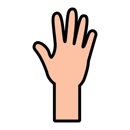 Offene Hand Symbol Bild Vektor-Illustration Design Standard-Bild - 95504000