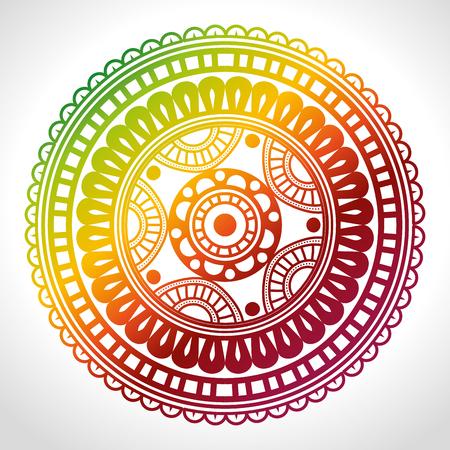 colors mandala decoration background vector illustration design Stock Vector - 95504454