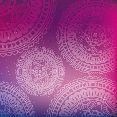 colors mandala decoration background vector illustration design