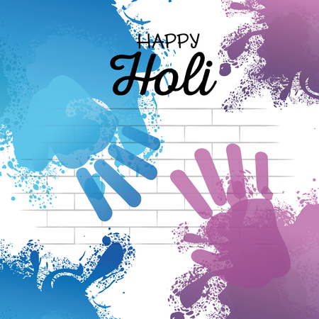 gelukkig holi festival kleuren vector illustratie ontwerp