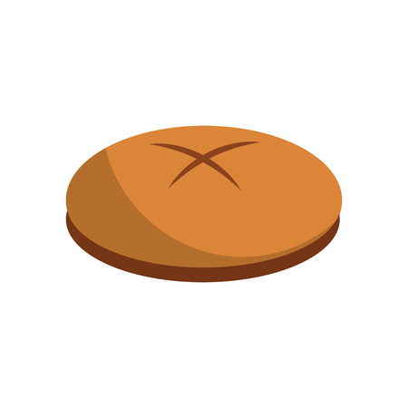 bread round loaf served as a meal accompaniment vector illustration
