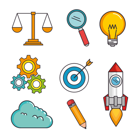 creative big idea set icons vector illustration design
