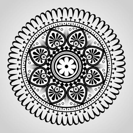 mandala monochrome decoration icon vector illustration design Illustration
