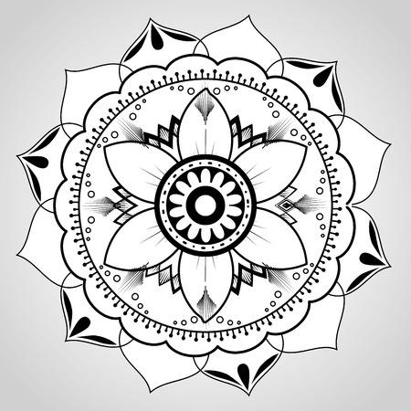mandala monochrome decoration icon vector illustration design Ilustracja