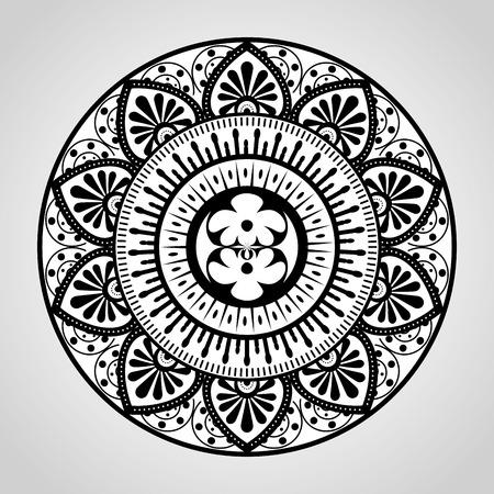 mandala monochrome decoration icon vector illustration design Zdjęcie Seryjne - 95743435