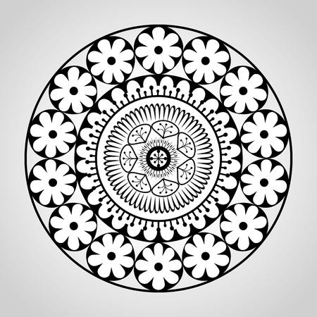 mandala monochrome decoration icon vector illustration design Zdjęcie Seryjne - 95743436