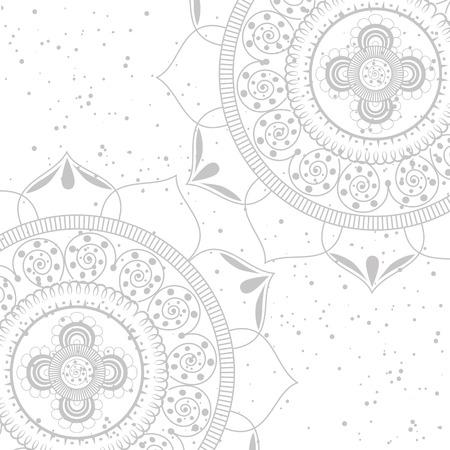 color mandala pattern background vector illustration design