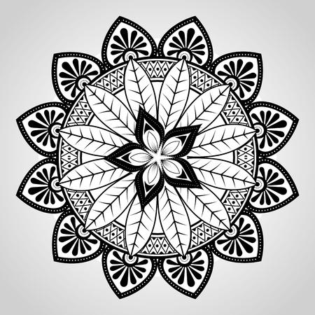 mandala monochrome decoration icon vector illustration design Zdjęcie Seryjne - 95521383