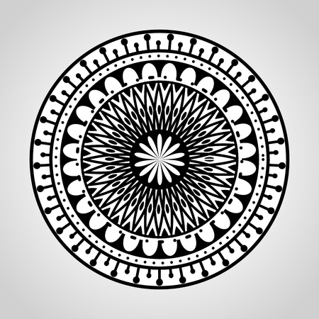 mandala monochrome decoration icon vector illustration design Zdjęcie Seryjne - 95521385