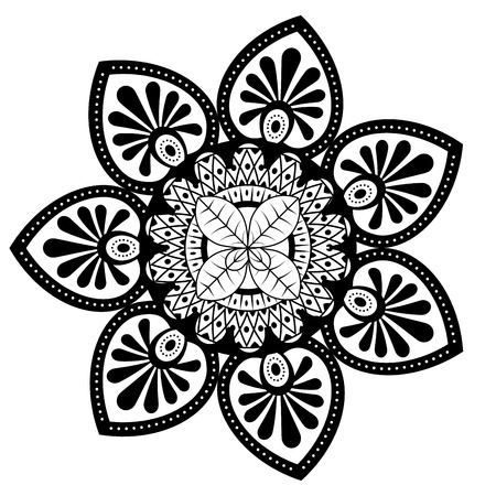mandala monochrome decoration icon vector illustration design Zdjęcie Seryjne - 95743447